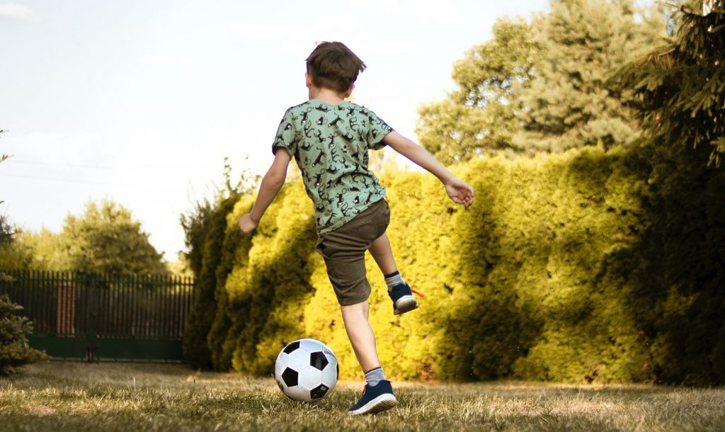 Sonho de se tornar um jogador de futebol
